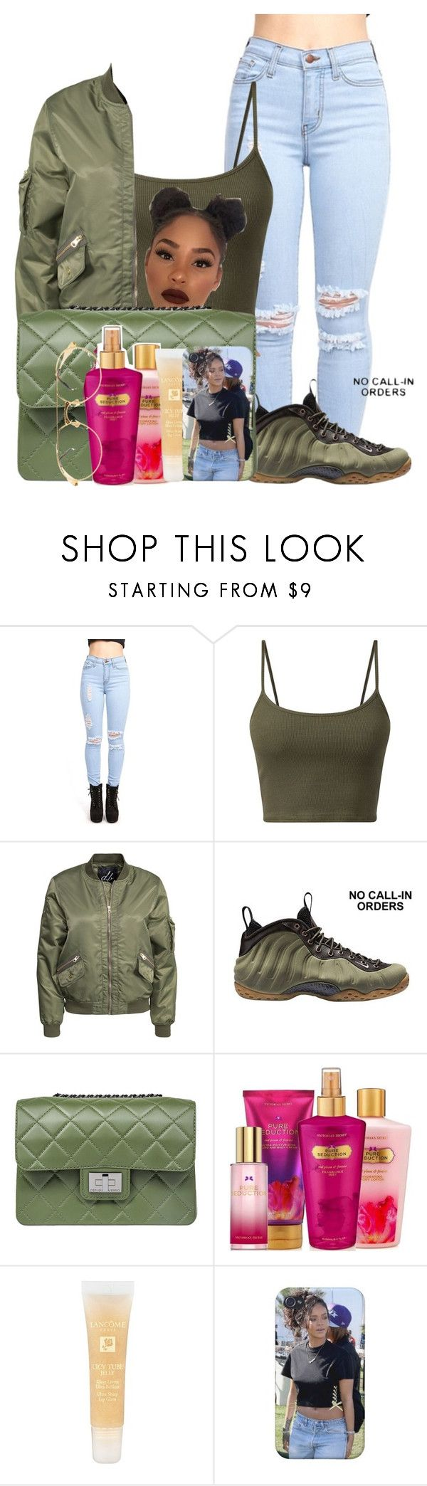 """"""""""" by bvsedg0d ❤ liked on Polyvore featuring D. Brand, NIKE, Design Inverso, Victoria's Secret, Lancôme and MCM"""