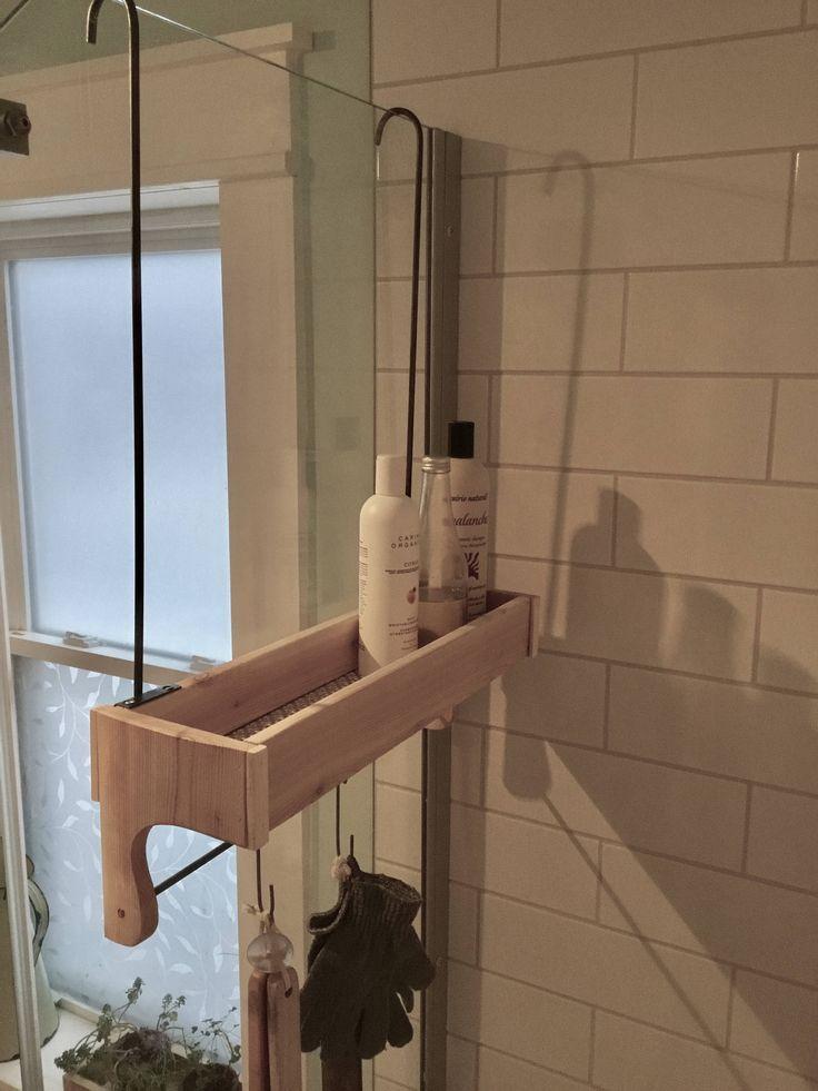 Cedar Wood Shower Caddy Rustic Style Shower Storage Etsy Shower Storage Shower Caddy Rustic Shower