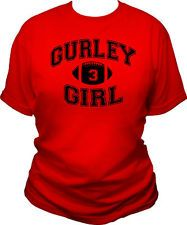 GURLEY GIRL WOMENS T-SHIRT TODD GURLEY GEORGIA BULLDOGS GA UGA DAWGS LADIES TEE
