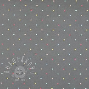Úplet Magic dots dark grey