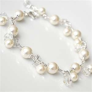 Image Search Results for pearl and crystal bracelet