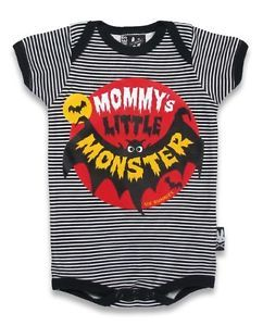 Six Bunnies Baby Onesie Mommy's Little Monster Romper Rockabilly Punk Stripes | eBay