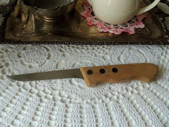 Vintage Long Knife Vintage Kitchen Wooden Handle Vintage