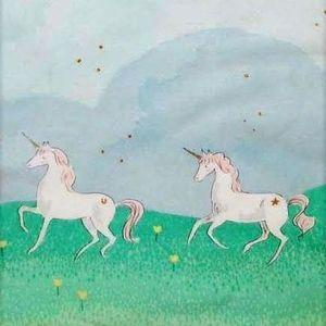 Sarah Jane - Magic - Unicorn Parade Double Border in Mint Metallic