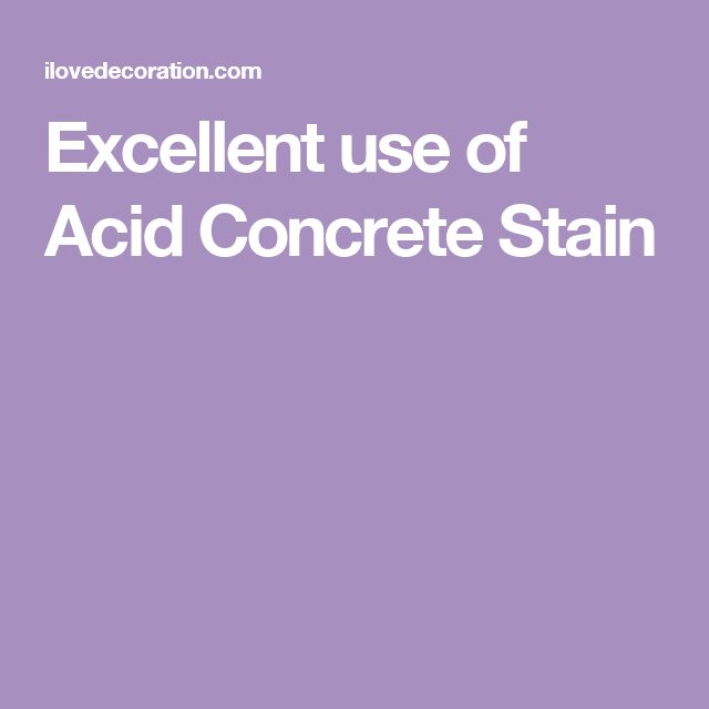 Excellent use of Acid Concrete Stain