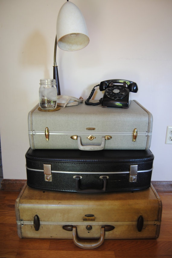 The 25  best Vintage suitcase table ideas on Pinterest | Suitcase ...