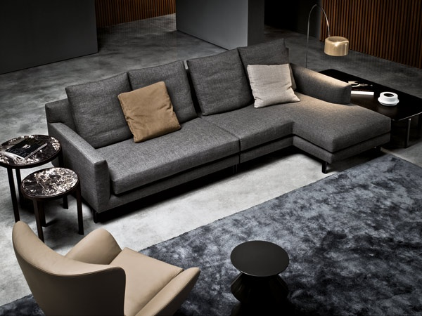 Minotti - Donovan: Grey Couch, Modern Living Rooms, Allen Sofas, Leather Sofas, Minotti Allen, Tv Rooms, Products, Sectional Sofas, Allen Couch