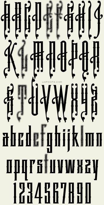 Letterhead Fonts / LHF Dreadnought / Late 1800's Fonts