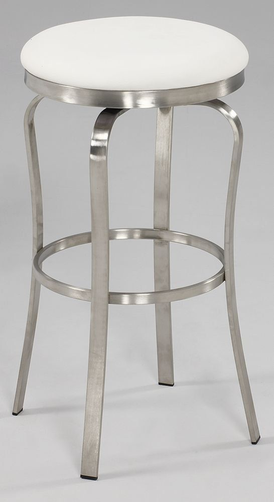Amazon.com - Chintaly Imports Modern Backless Bar Stool Brushed Stainless Steel/White & 17 best stools images on Pinterest | Counter stools Backless bar ... islam-shia.org