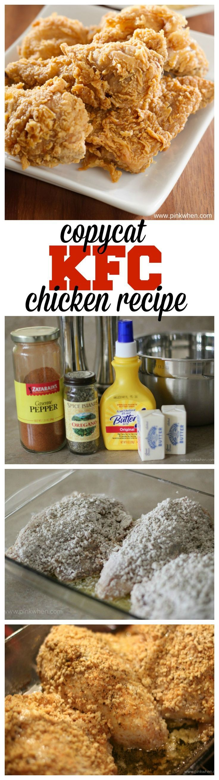 Make your own mouth watering copycat KFC chicken at home with this recipe.