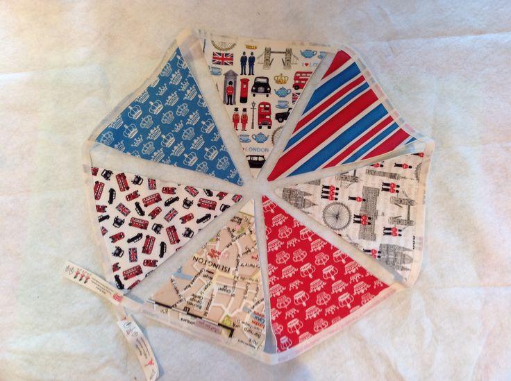 Mini London fabric bunting