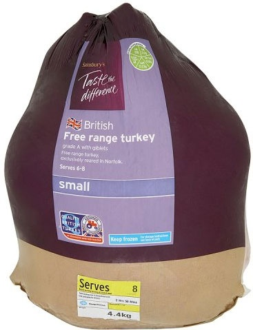 Sainsbury's Taste the Difference Free Range Small Whole Turkey (Approx 3.9Kg)