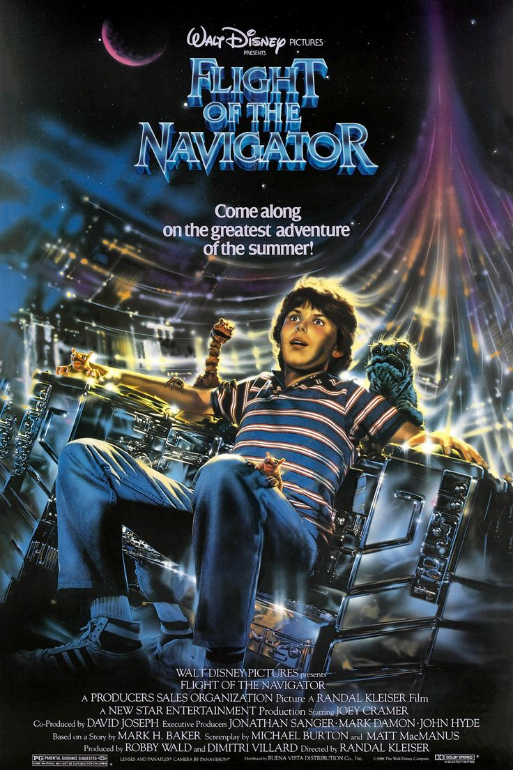 Flight of the Navigator (1986). One of my favorites, taped off TV on a VHS that I still have.