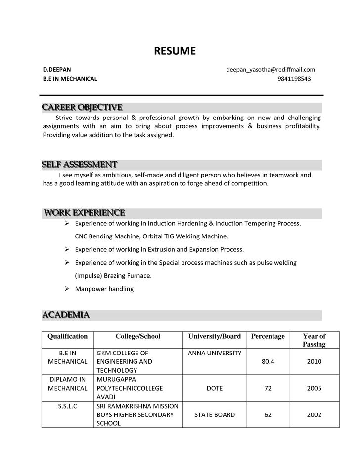 personal objective for resumes
