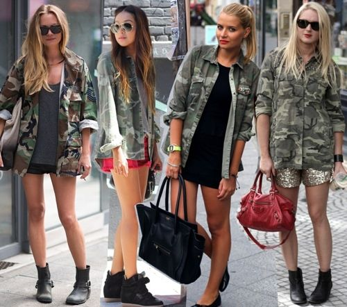 Military Chic Style Fashion Trends Halloween Festivities Pinterest Camo Camo Jacket