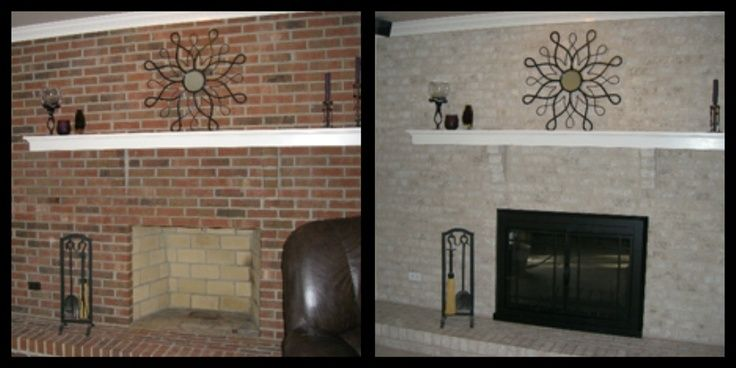 12 best images about fireplace makeover on pinterest how - Brick wall fireplace makeover ...