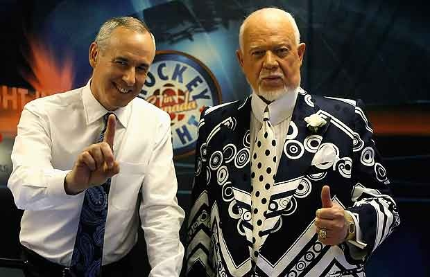Host's of 'Hockey Night in Canada' Ron Maclean and Don Cherry.