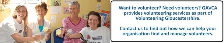 GAVCA encourage volunteering in Gloucestershire #charities