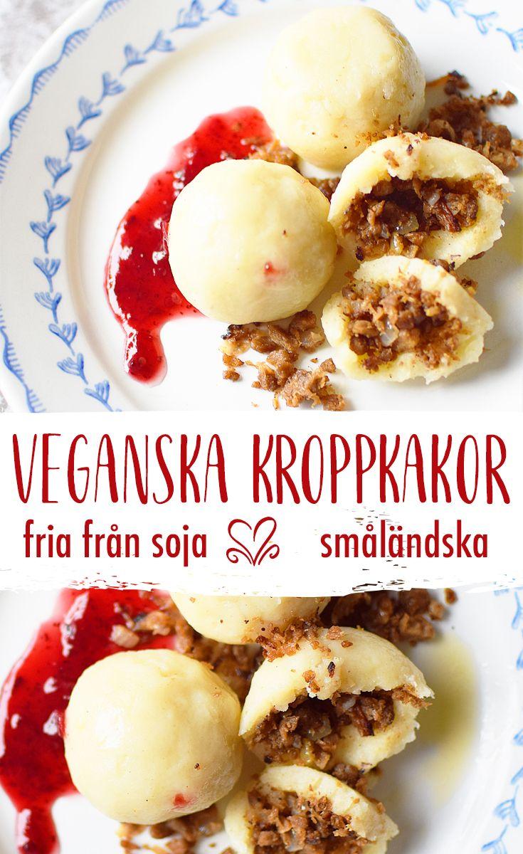 Laga veganska småländska kroppkakor. Smakrika och delikata. I receptet finns två förslag på fyllning varav ena är fri från soja. Smaklig måltid!