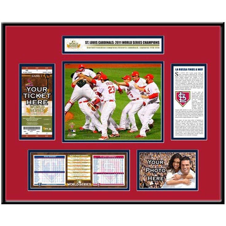 St. Louis Cardinals 2011 World Series Champions Ticket Frame