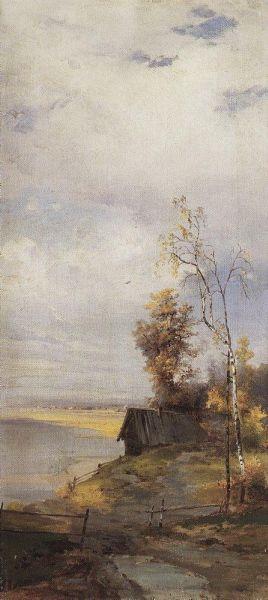 Landscape with a house by Alexei Savrasov/ Пейзаж с домиком. Алексей Кондратьевич Саврасов