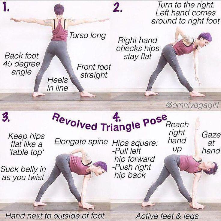 #YogaTipsAndAdvice   Basic yoga poses, Triangle pose yoga ...
