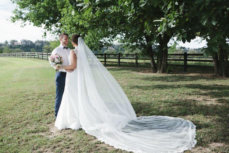 Bride and Groom out on the farm. Photo: Samantha Macabulos. Venue: Sydney Polo Club