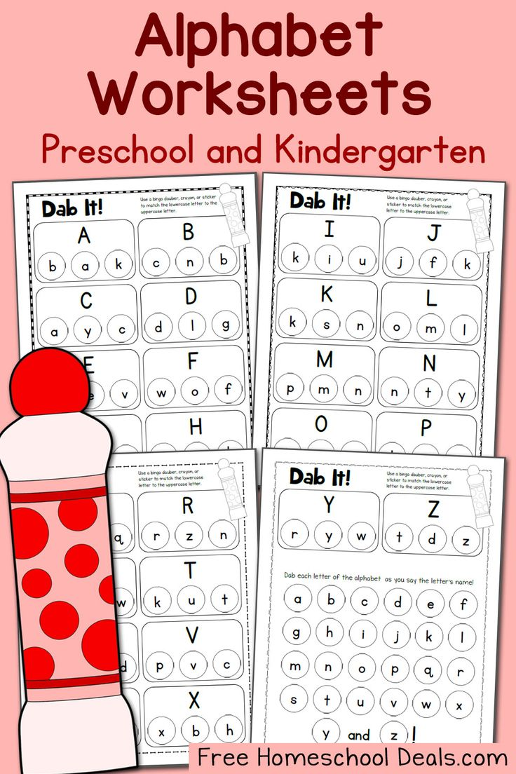 Dab It Alphabet Worksheets Upper and Lowercase Letters FHD May 2016