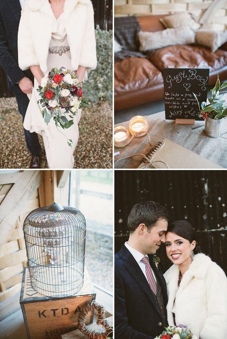 A Rustic Winter Wedding At Cripps Barn