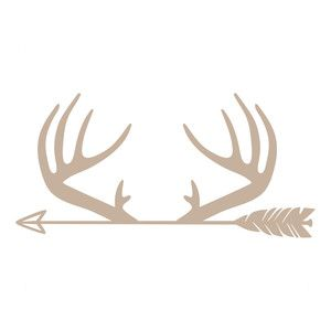 Silhouette Design Store: antlers arrow
