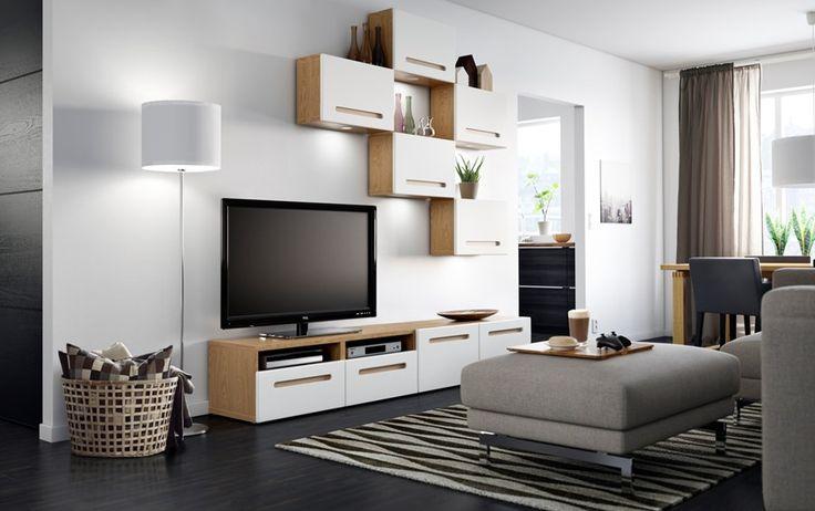 Szafki pod telewizorem + na ścianie