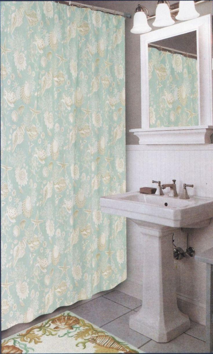 Master Bedroom Bathroom - Coastal Seashell Shower Curtain Sealife