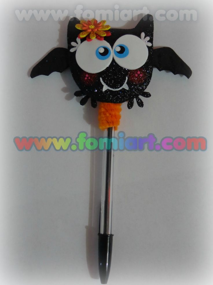 Pluma Decorada. Halloween Fomiart