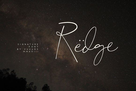 Redge by vuuuds on @creativemarket #font #typography