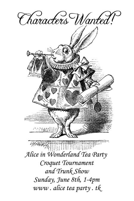 Alice in Wonderland Tea Party, Croquet Tournament & Trunk Show