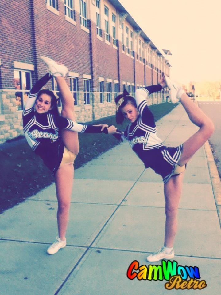 #cheer stunt bow and arrow and scorpion | Cheerleading is ...