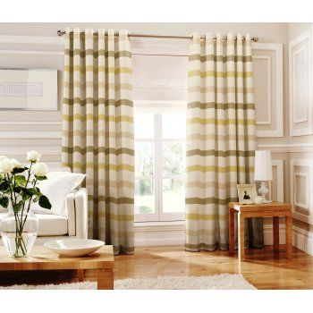 Whiteheads Judy green striped readymade eyelet curtain - Whiteheads from Emporium Home Interiors UK