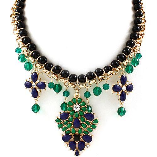 Diana Green Tear Drop Necklace
