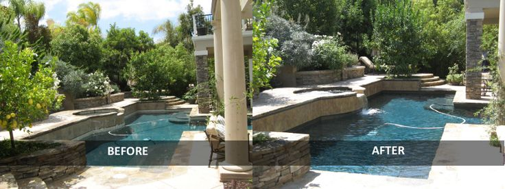 610 best images about pools fountains on pinterest for Pool remodeling