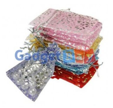 25pcs Mix Color Pretty Organza Wedding Gift Candy Pouch Bags 7x9cm 3X4 Inch