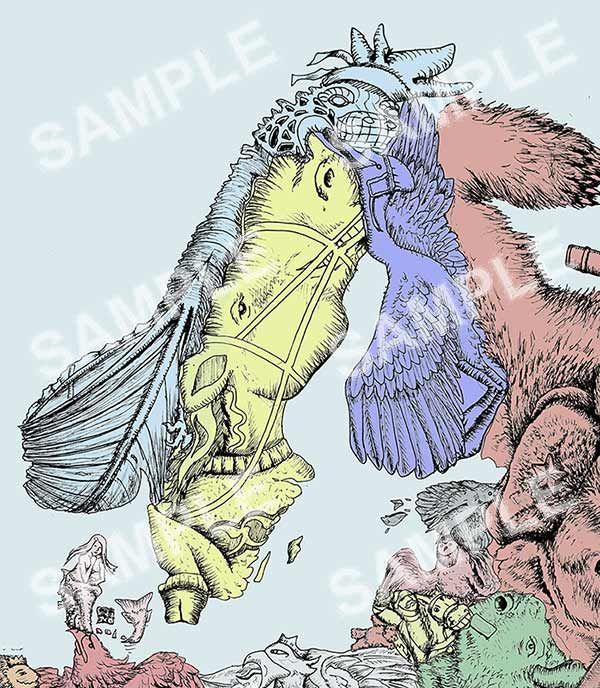 Best Europe In Symbols Map Illustration Digital Print Poster - Norway map cartoon