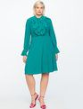 Tie Front Dress PALM GREEN