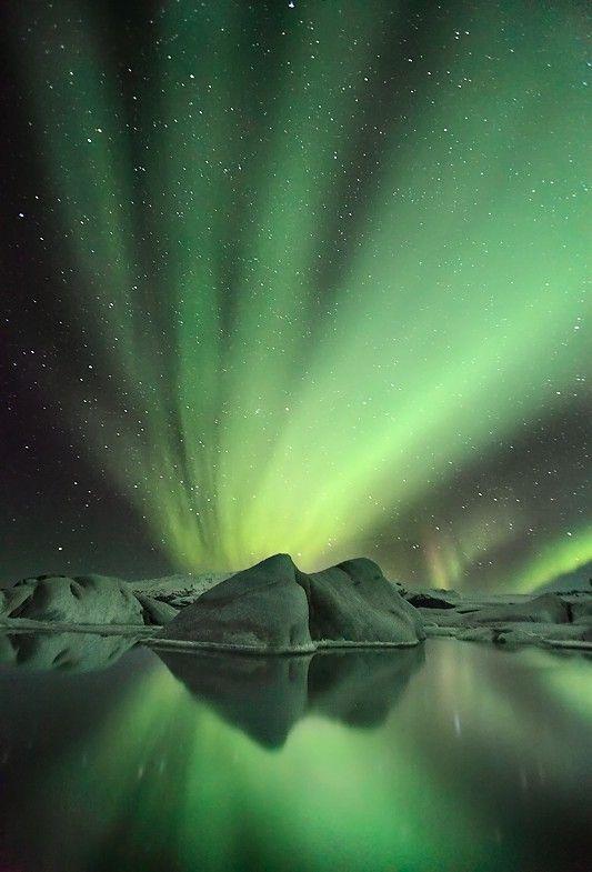 Glacier Aurora - Jökulsárlón By orvaratli