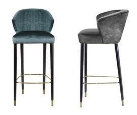 Nuka   Bar  Counter Chair  Contemporary, MidCentury  Modern, Transitional, Upholstery  Fabric, Wood, Metal, Barstools  Counter Stool by Carlyle Collective