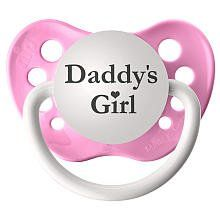 Pin it! :) Follow us :)) zBabyBaby.com is your Baby Gallery ;) CLICK IMAGE TWICE for Pricing and Info :) SEE A LARGER SELECTION of babypacifiers at http://zbabybaby.com/category/baby-categories/baby-feeding/baby-pacifiers/ -  baby, baby shower, baby stuff, baby gear, nursery,  infant,  toddler,  toddler stuff, pacifier, baby pacifier - Personalized Pacifier – Daddy's Girl Pink « zBabyBaby.com