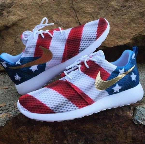 0947feac99fa American Flag Roshe Run Red Fourth of July Patriotic