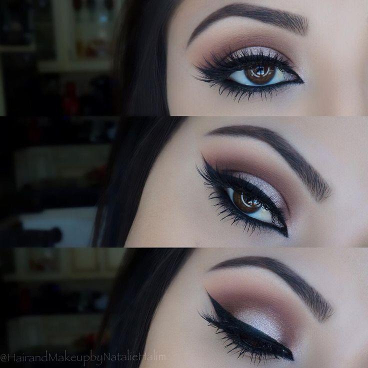 "Natalie Halim on Instagram: ""Makeup details ✨ Eyeshadow base: @maccosmetics Paint Pot ""Soft Ochre"" Eyeshadows: @anastasiabeverlyhills Couture Palette ""Soft Peach, Morocco, Fudge, Pink Champagne, & Noir"" Eyeliner: @sigmabeauty Gel Liner ""Wicked Lashes: @houseoflashes ""Iconic"" Brows: @anastasiabeverlyhills Dip Brow ""Dark Brown"" Brushes: @morphebrushes """