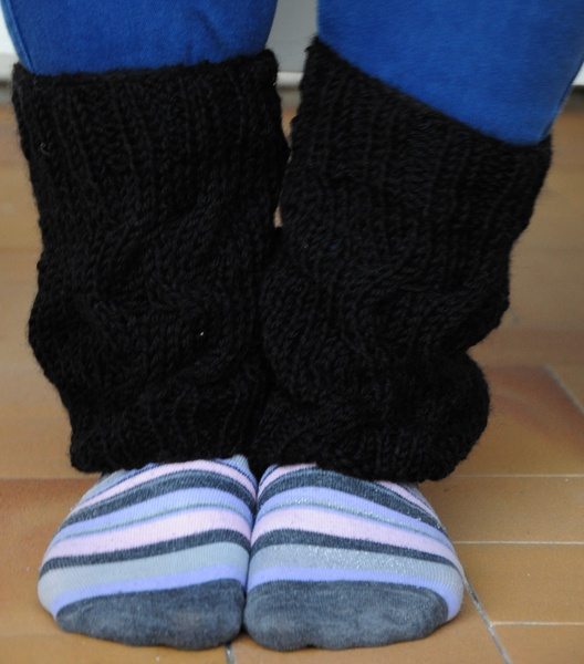 Black leg warmers handmade. Knitting. Warmer. Lenght about 30 centimeters. Useful during the warmer winter days. Available in other colours to ask bef