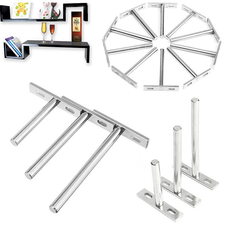 10 x heavy duty tool concealed floating hidden wall shelf support metal brackets