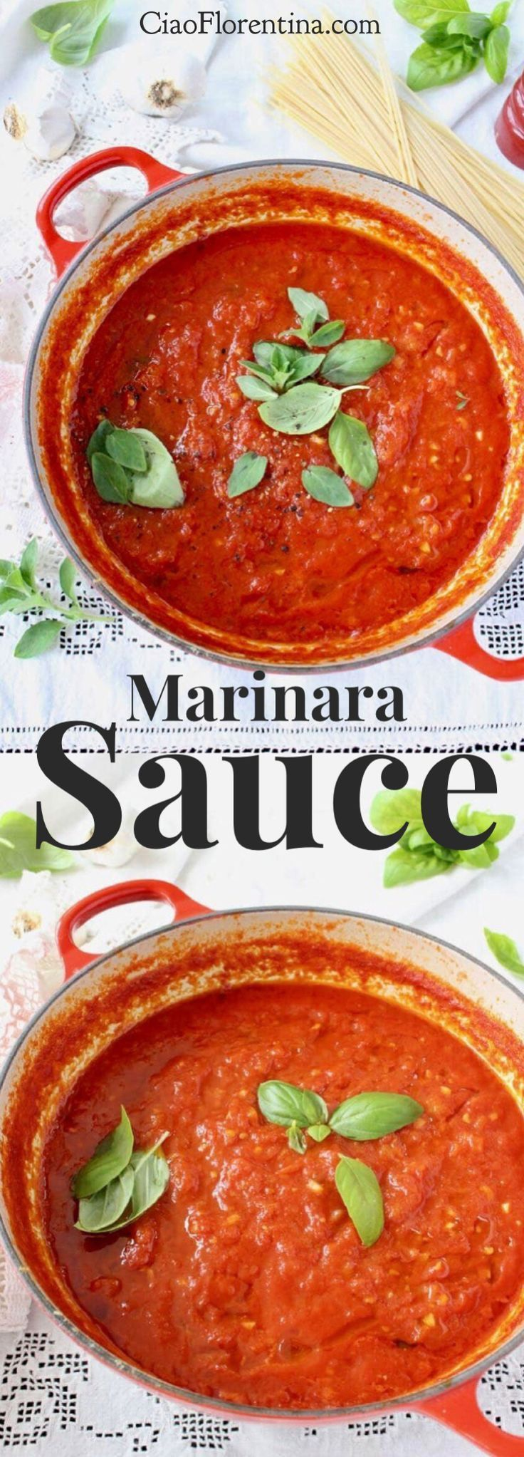 The Best Marinara Sauce Recipe, authentic Italian made with San Marzano tomatoes, garlic and basil!  Easy, chunky, creamy and hearty, this is the only recipe you'll need  | http://CiaoFlorentina.com @CiaoFlorentina